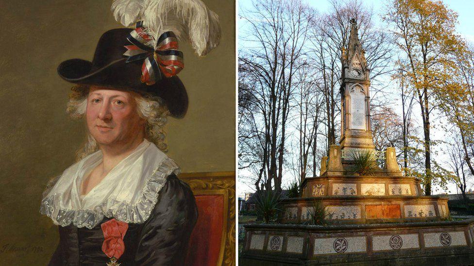 Chevalier d'Eon and Burdett-Coutts memorial