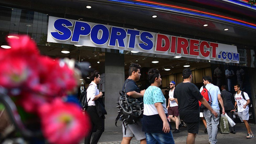 Exterior of Sports Direct shop