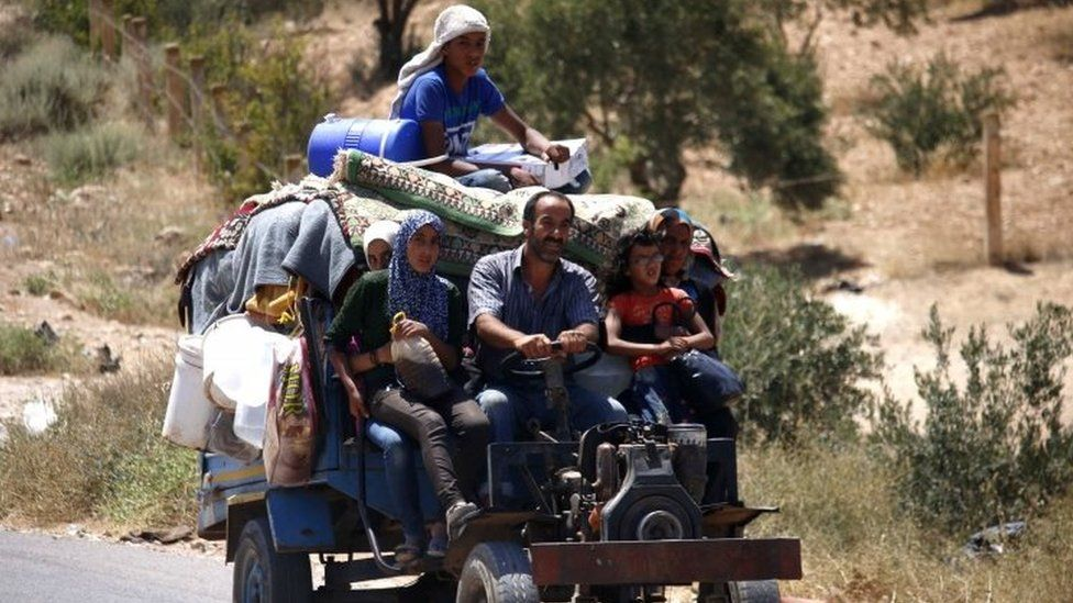 Syrians return to their homes in Deraa. Photo: 7 July 2018