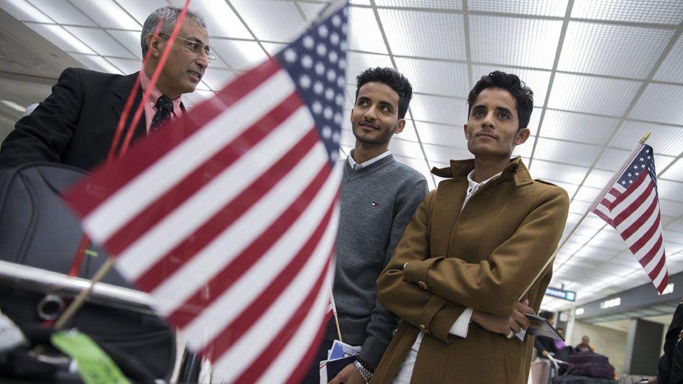 Yemeni nationals at Washington Dulles airport