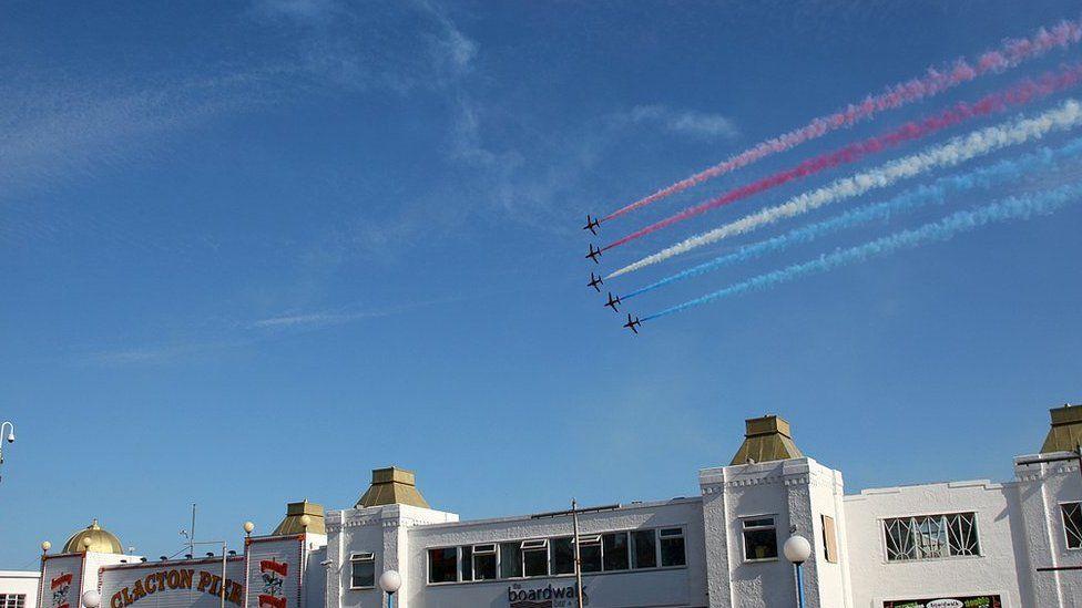 Red Arrows at Clacton Air Show