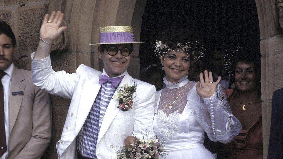 Elton John's marriage to Renate Blauel