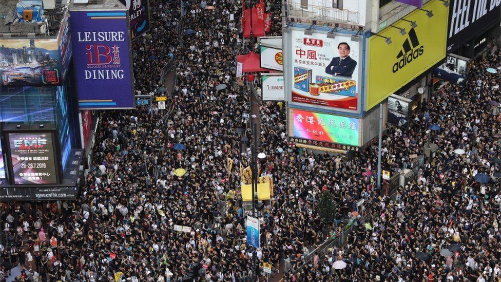 Mass demonstration in 2019