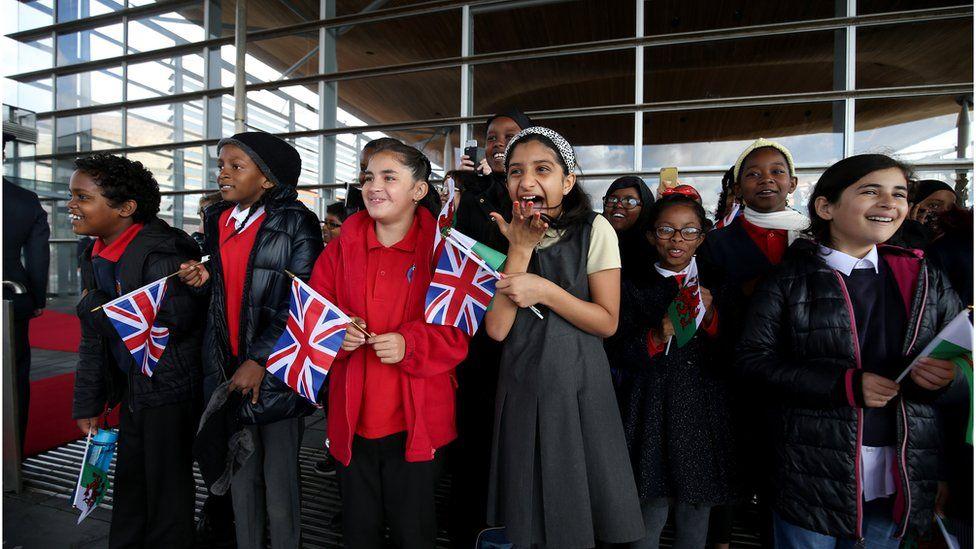 Pupils from Mount Stuart Primary School