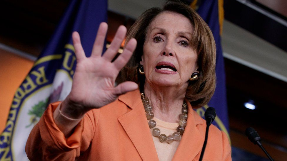 House Minority Leader Nancy Pelosi of Calif. speaks to reporters on Capitol Hill in Washington, Thursday, March 2, 2017