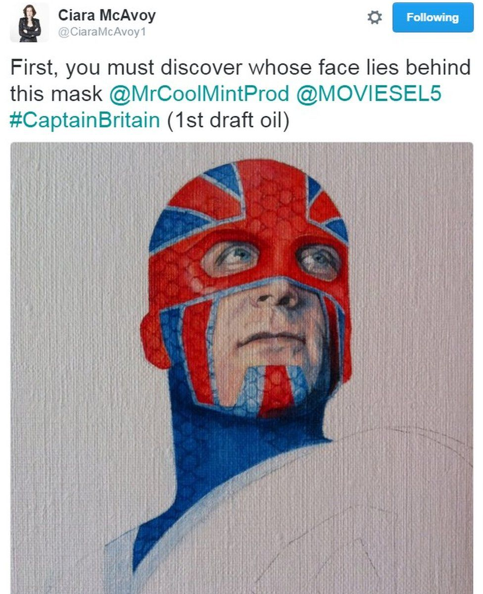 Ciara McAvoy's visualisation of a new Captain Britain