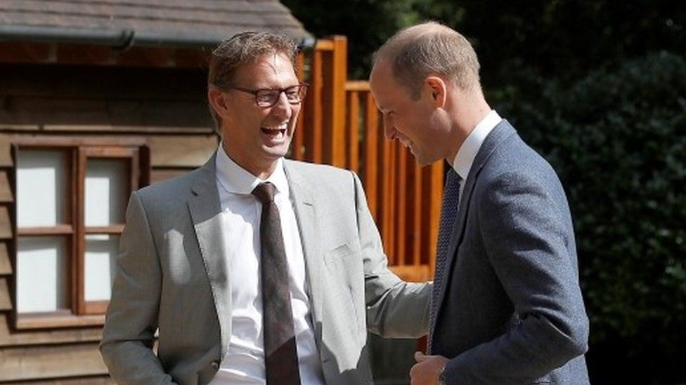 Tony Adams and Prince William