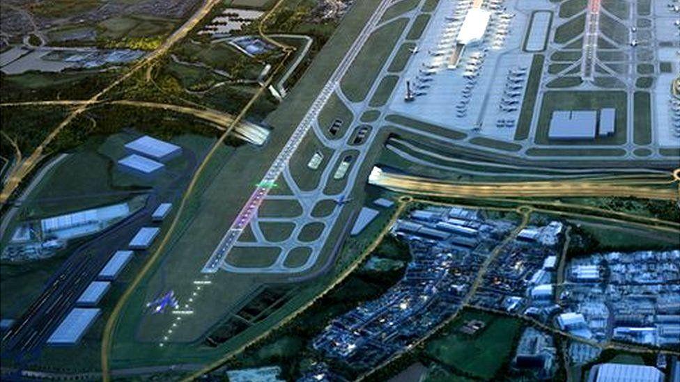 Architects' visualisation of expanded Heathrow