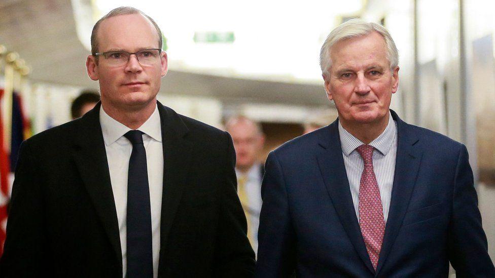 Simon Coveney Michel Barnier