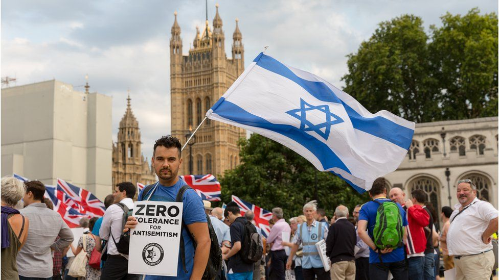 Protest against antisemitism in the Labour Party
