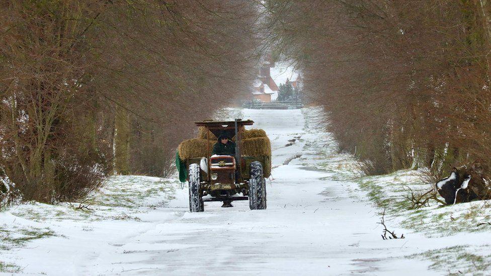 A tractor in Sudbury
