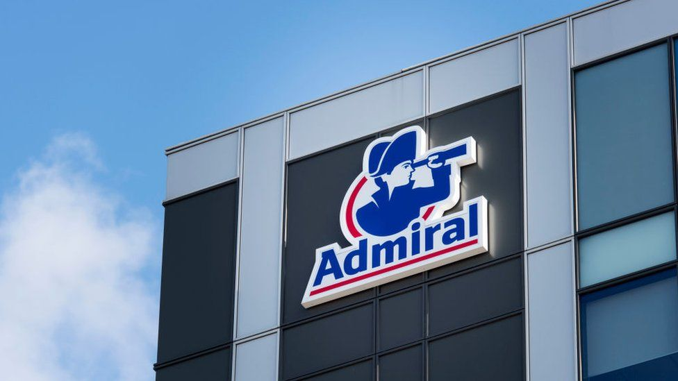 Admiral logo on an office