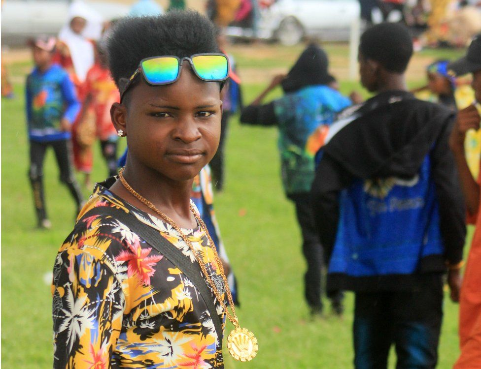 A Fulani boy with a punk hairdo