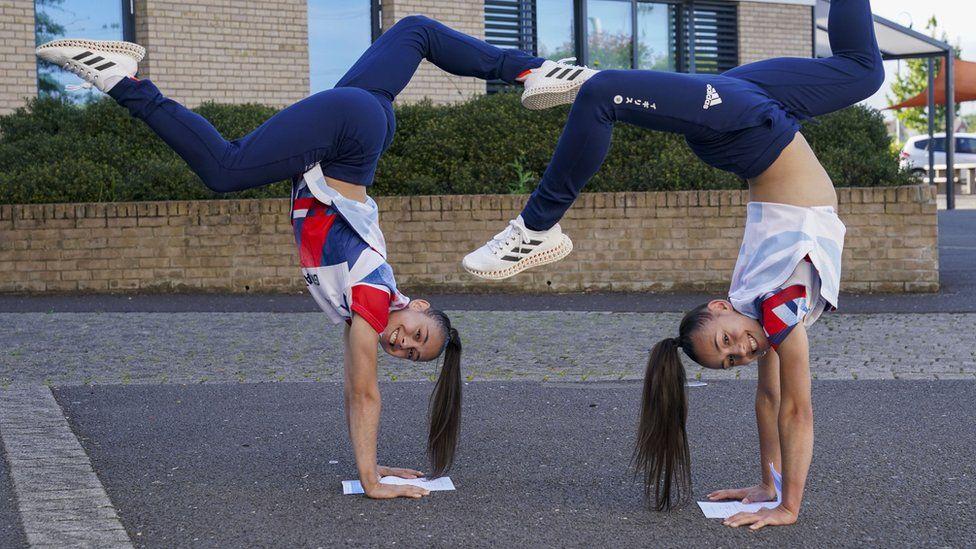 Jessica (left) and Jennifer Gadirova