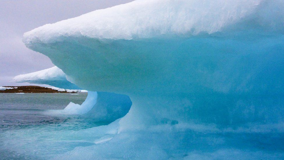 Ice Forming In Resolute Bay, Nunavut, Arctic Canada