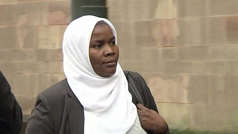 Dr Hadiza Bawa-Garba outside court