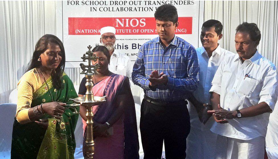Transgender rights activist Kalki Subrahmaniam inaugurating the school for transgender students in Kochi on 3 December, 2016