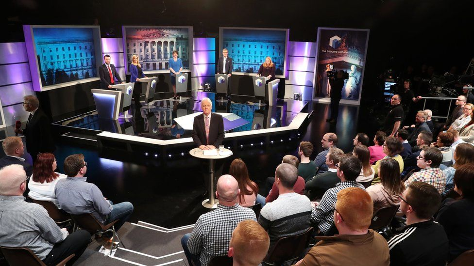 The debate is being filmed in front of a live studio audience