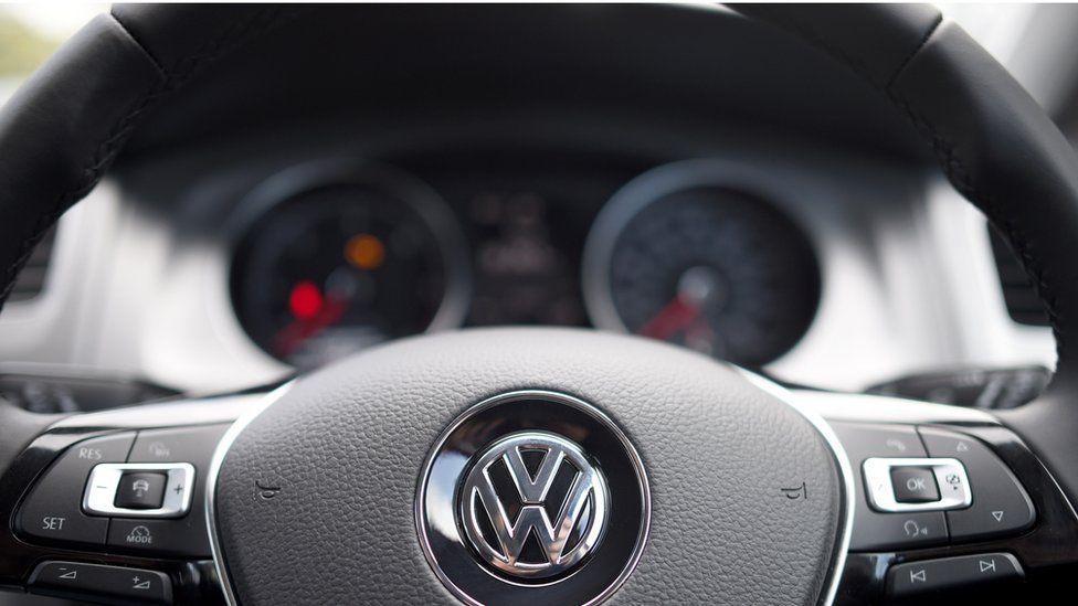 VW steering wheel