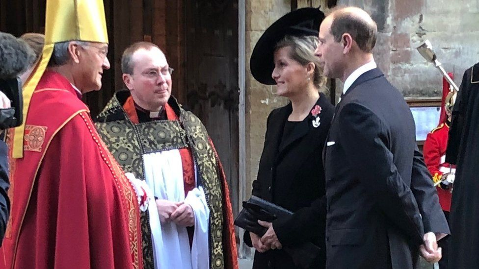 Prince Edward and Sophie Countess of Wessex with Archbishop of Wales
