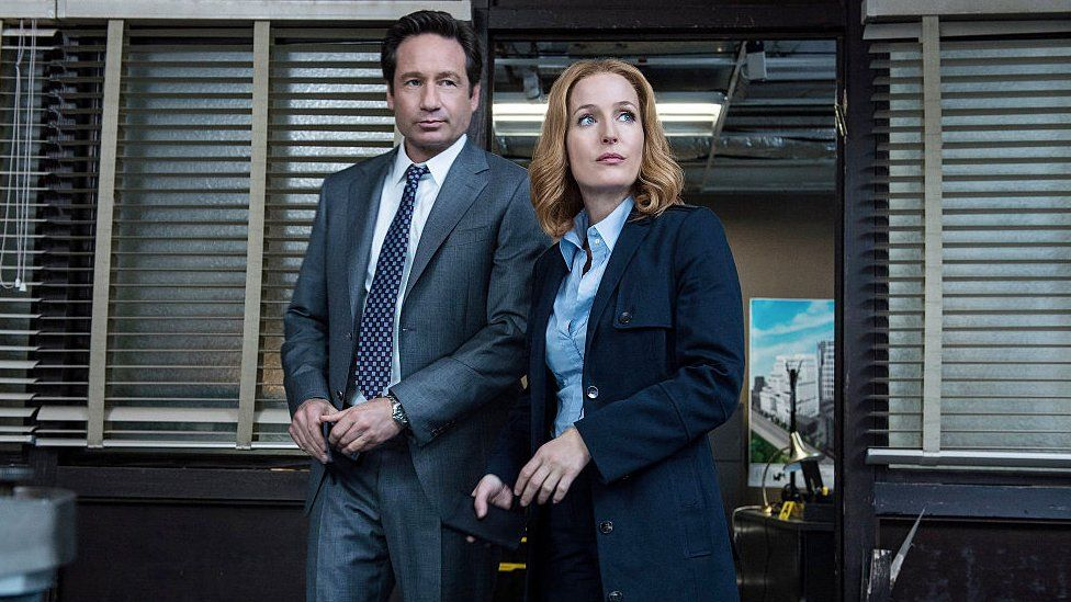 Mulder and Scully from the X-Files