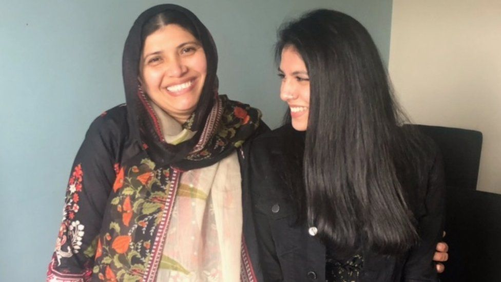 Sultana and daughter Yasmin