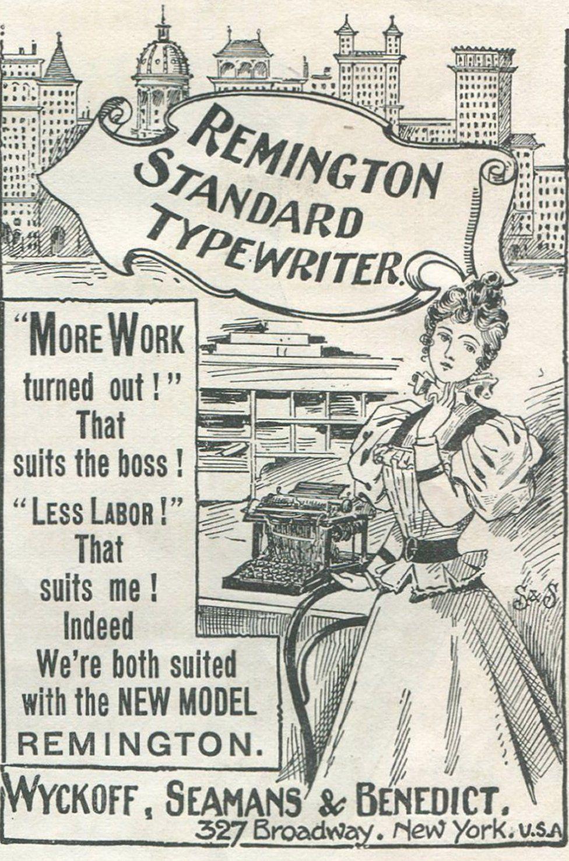 An advert for Remington Standard Typewriter