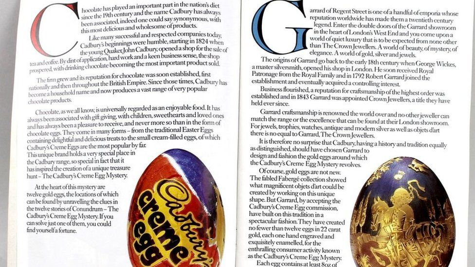 Conundrum egg and book