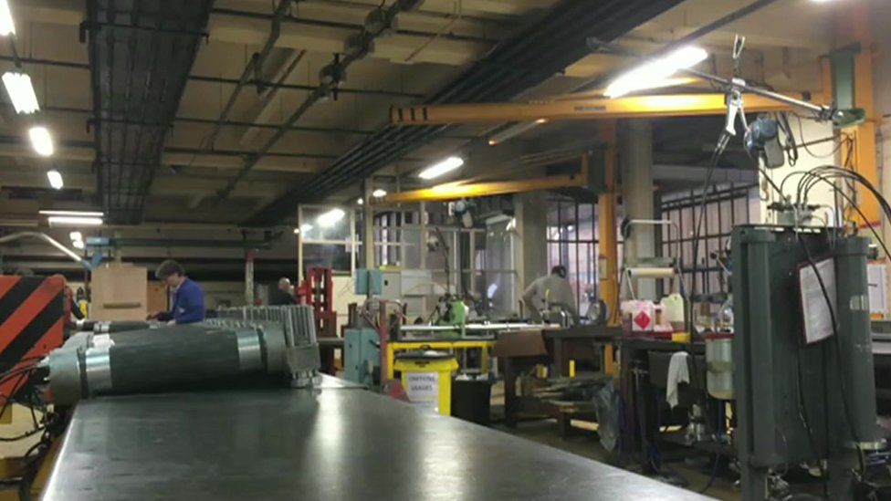 interior of Etna Industrie factory