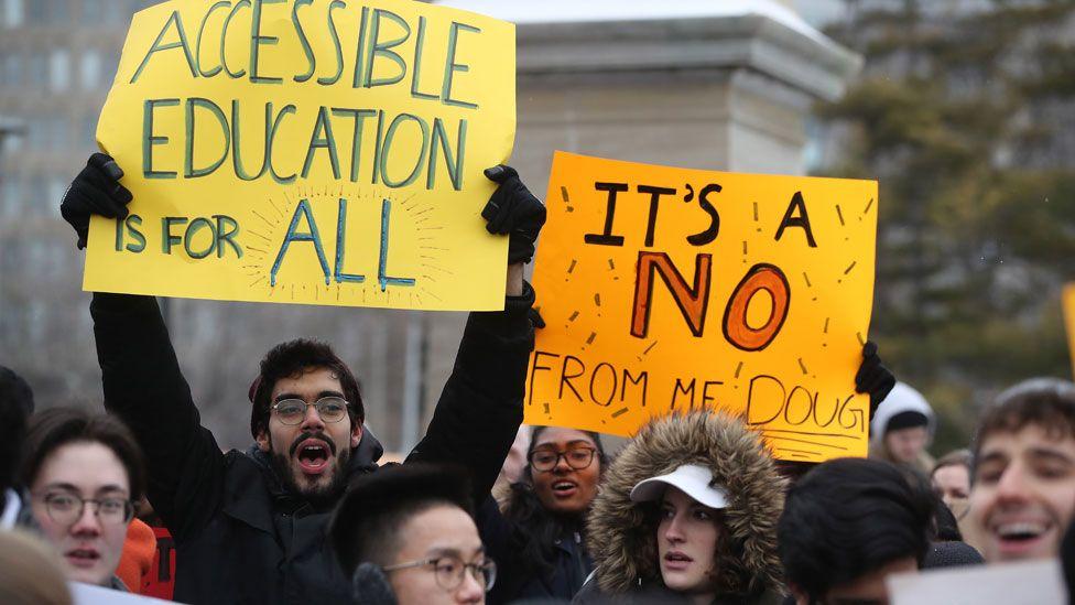 Toronto student protest