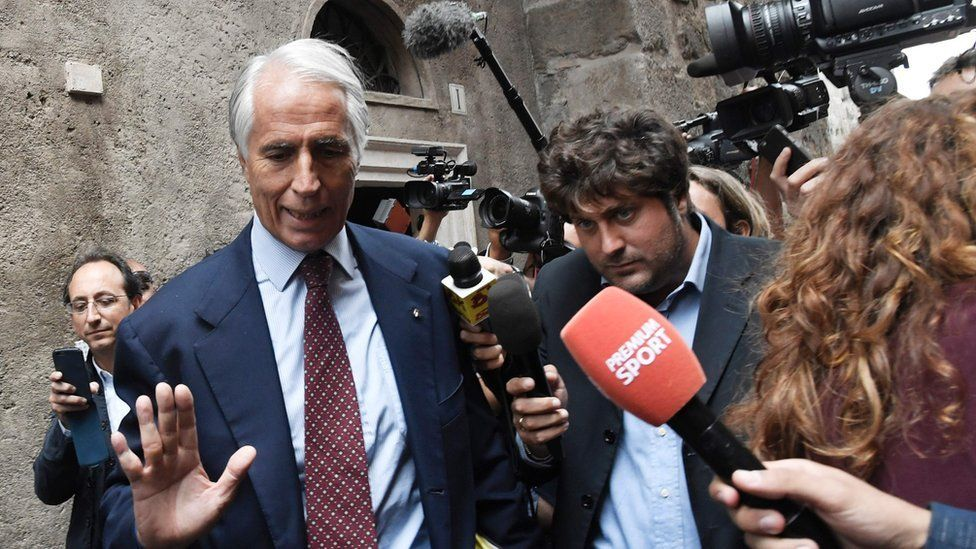 The head of the Italian Olympic Committee, Giovanni Malago, (21 Sept)