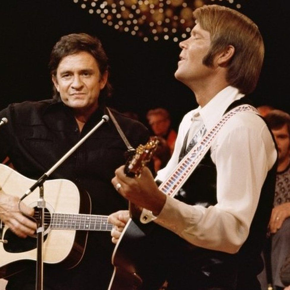 Johnny Cash and Glen Campbell