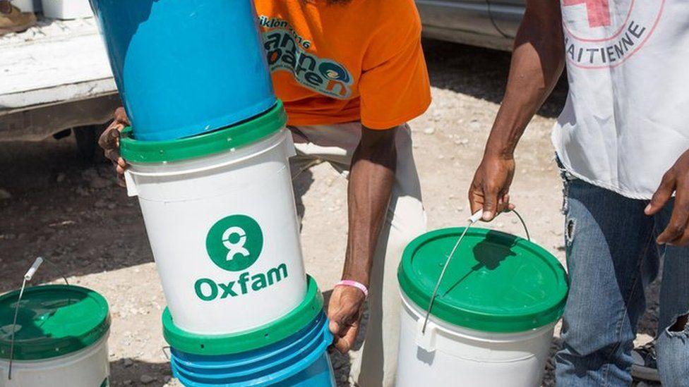 Oxfam staff in Haiti