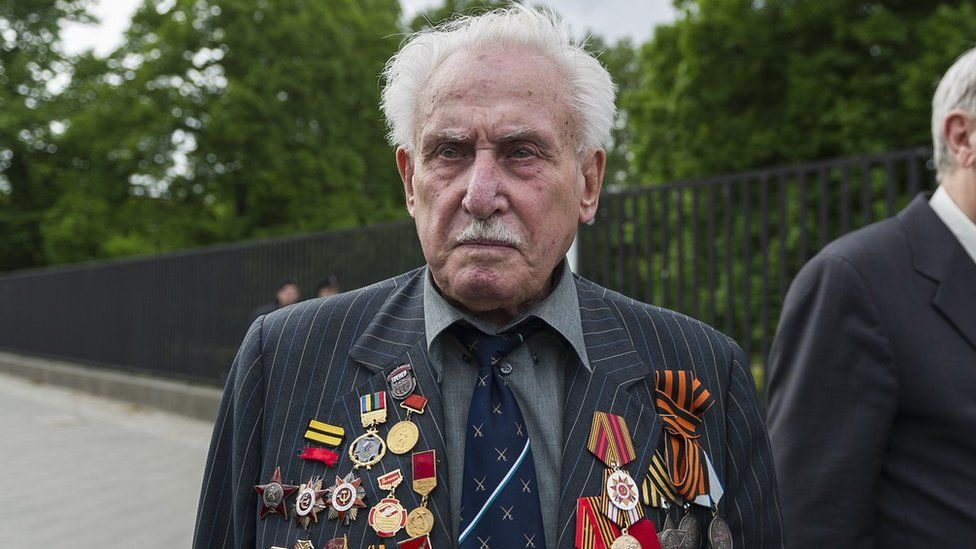 David Dushman at a memorial service in Ukraine in 2015