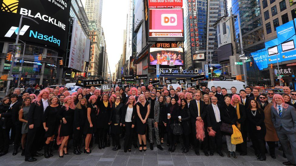 Therese Tucker and BlackLine colleagues in New York