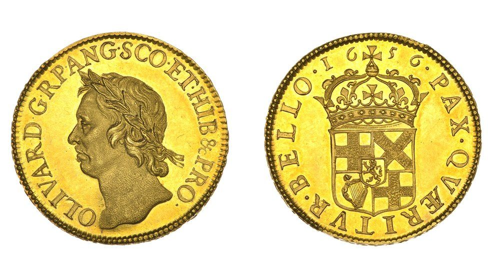 Oliver Cromwell Gold Coin Sells For World Record 471k At Auction Bbc News
