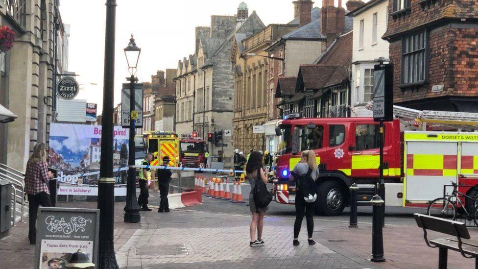 Scene of incident in Salisbury