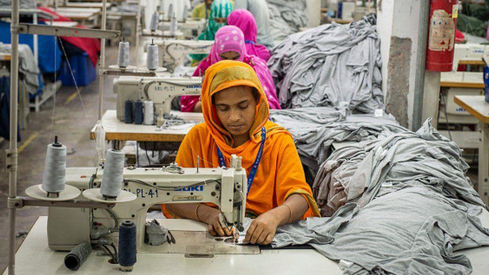 Female factory workers in Dhaka