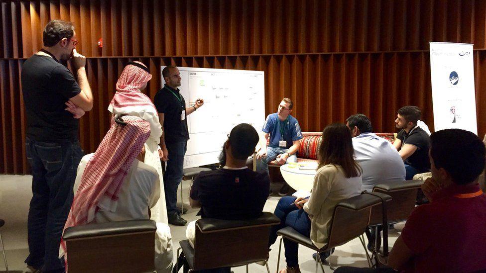 A business workshop in Kuwait