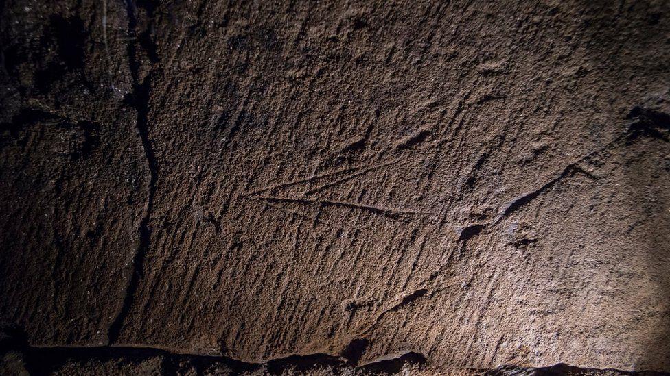 Mason's marking in Paisley Abbey drain