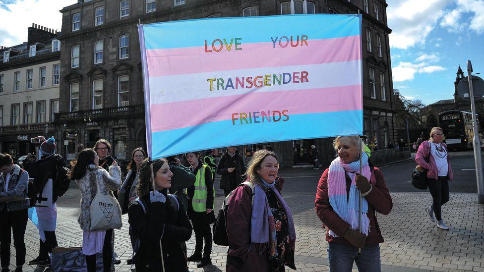 Trans Pride march