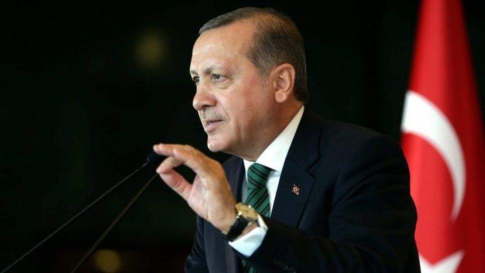 Turkish President Recep Tayyip Erdogan in Ankara. Photo: 17 February 2016
