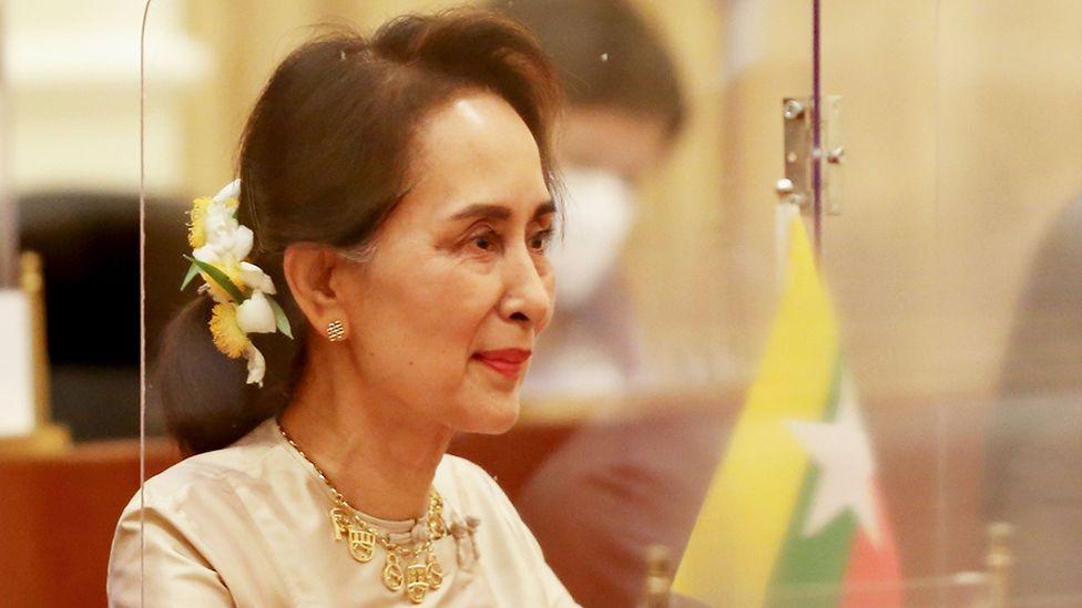 Aung San Suu Kyi menghadiri pertemuan pada 1 September 2020