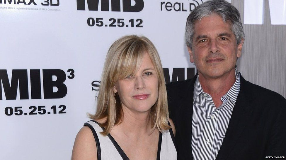 Producers Laurie MacDonald and Walter Parkes at the Men in Black 3 premiere in New York in 2012