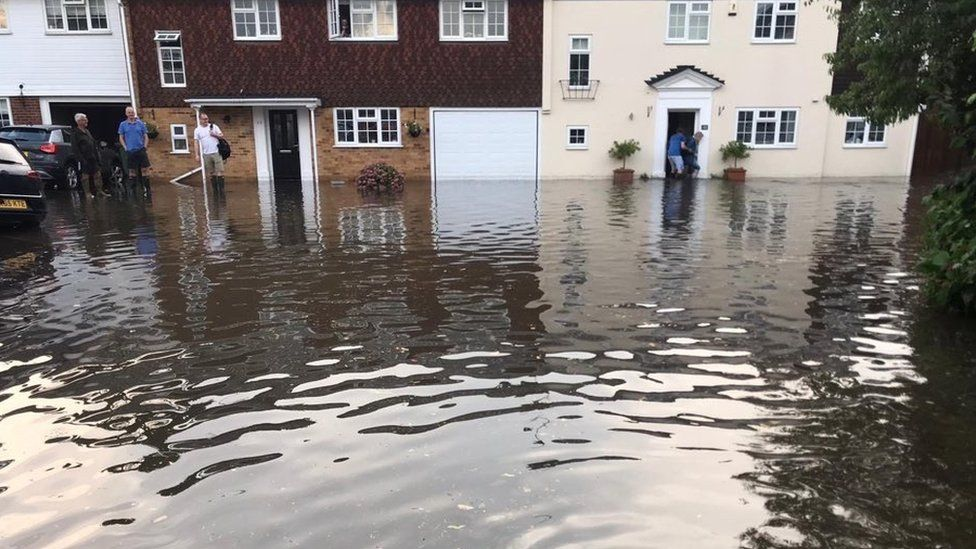 Flooding in Kibworth, Leicestershire