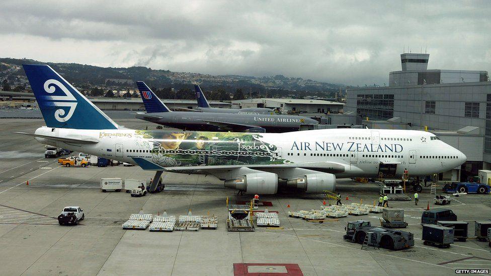 An Air New Zealand plane