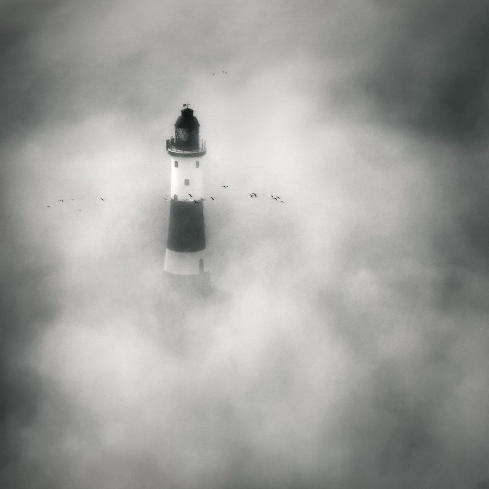 Clearing Fog, Beachy Head Lighthouse, East Sussex