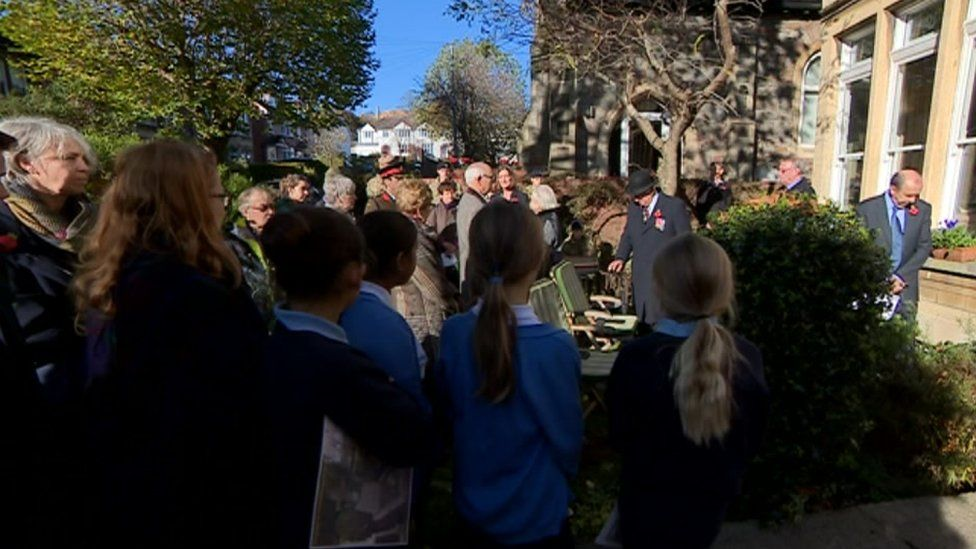 Children from Hardy's former school in Bath attended the ceremony