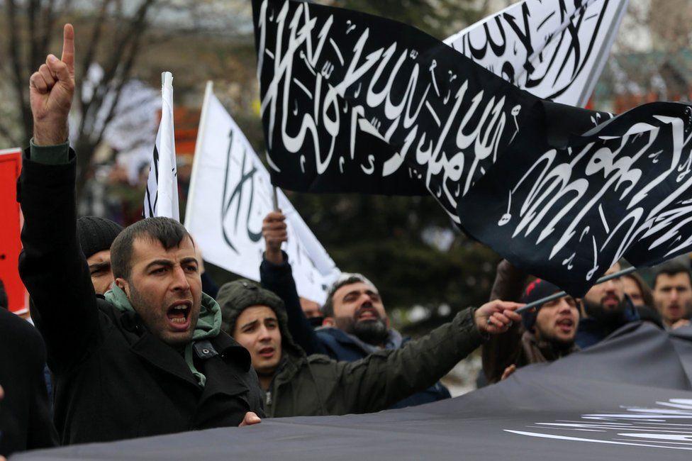 Protesters in Ankara, 16 December