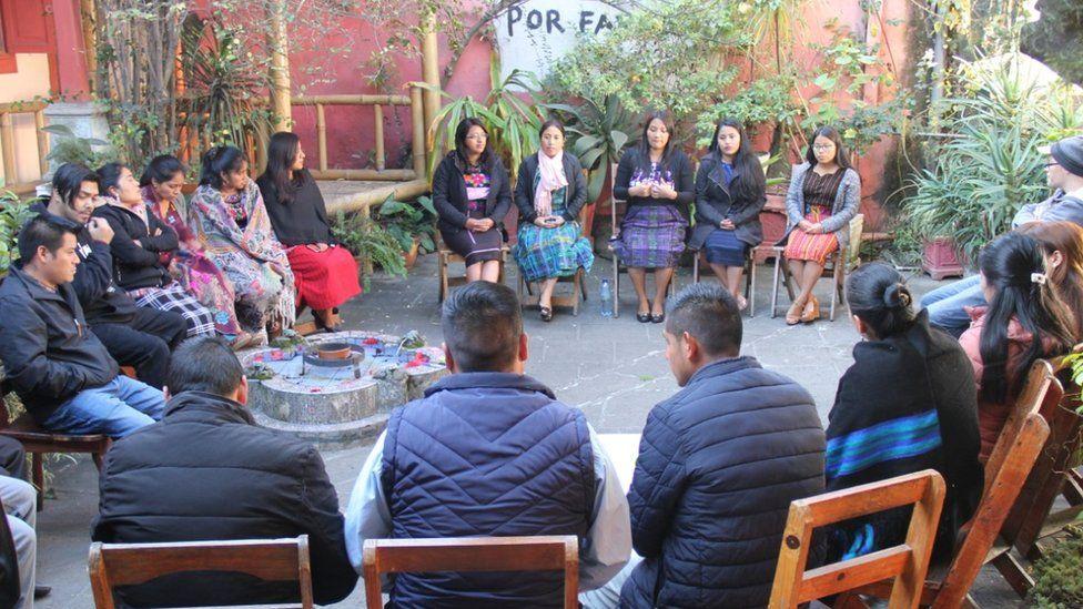The group of translators meeting in Guatemala